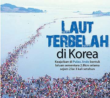 Wisata Unik di Korea Selatan : Ajaib, jalan ini muncul di tengah lautan!